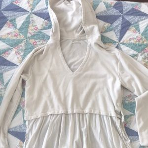 Cream urban outfitters hoodie!!